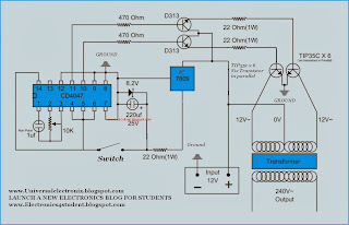 Simple 500 Watt Inverter Circuit Diagram all about wiring diagram