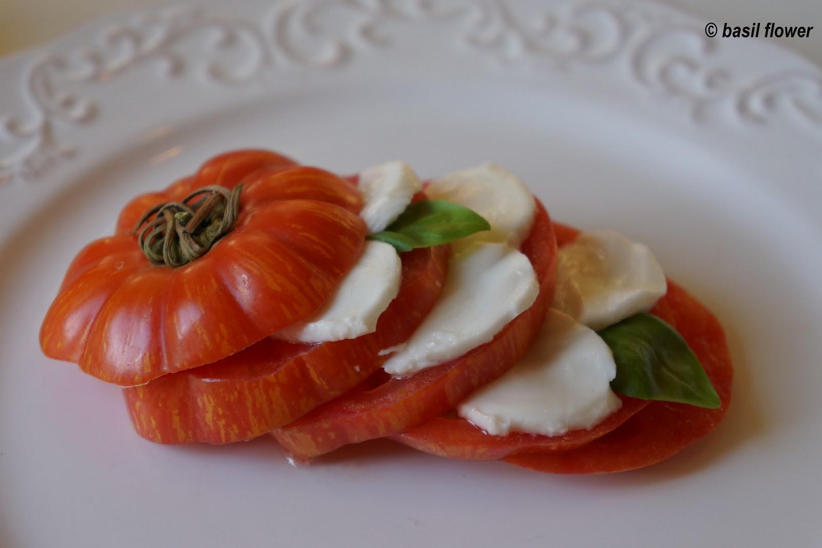 ingredients of heirloom tomato caprese salad heirloom tomatoes 3 large ...