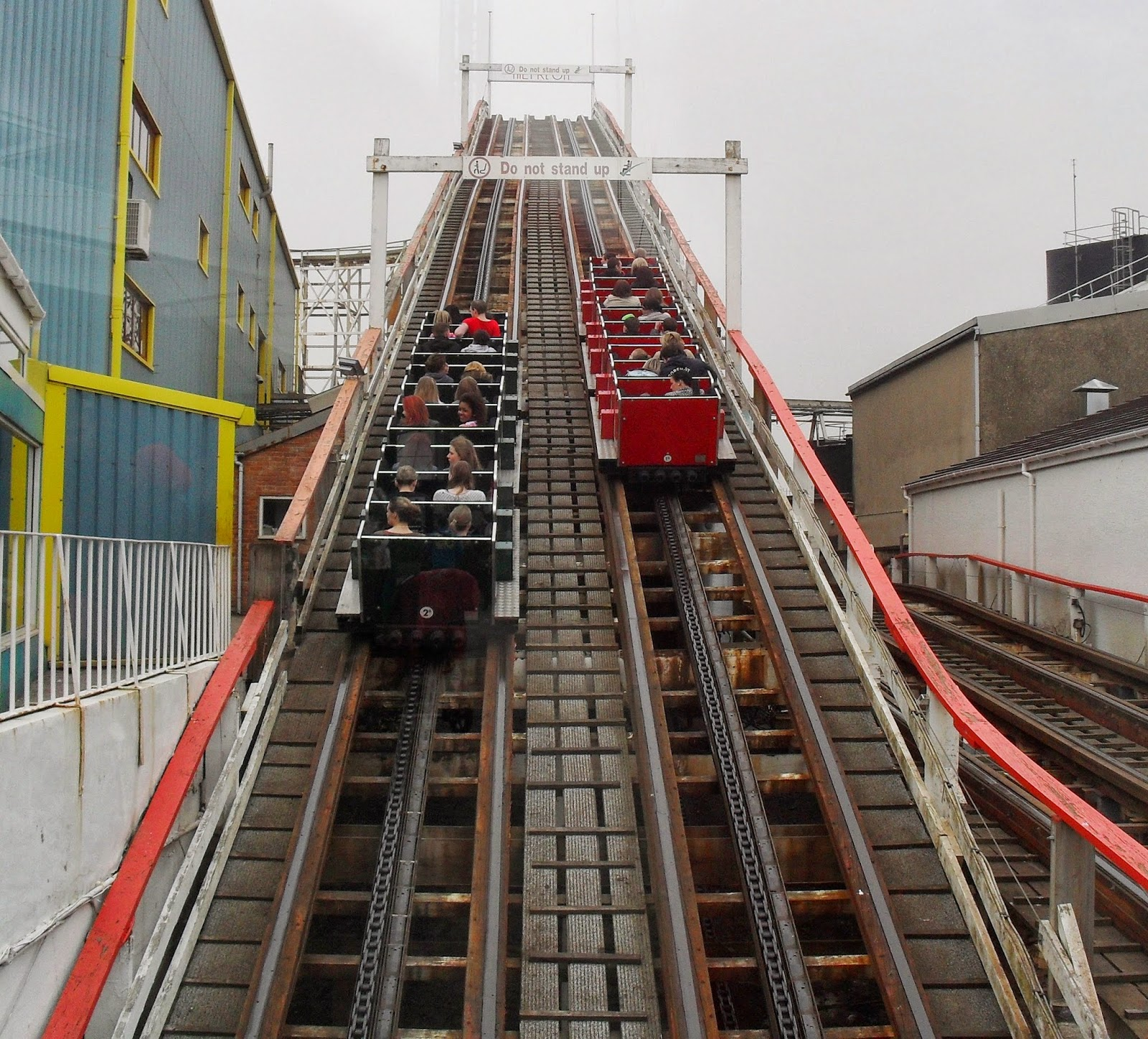 Rollercoaster at Blackpool Pleasure Beach