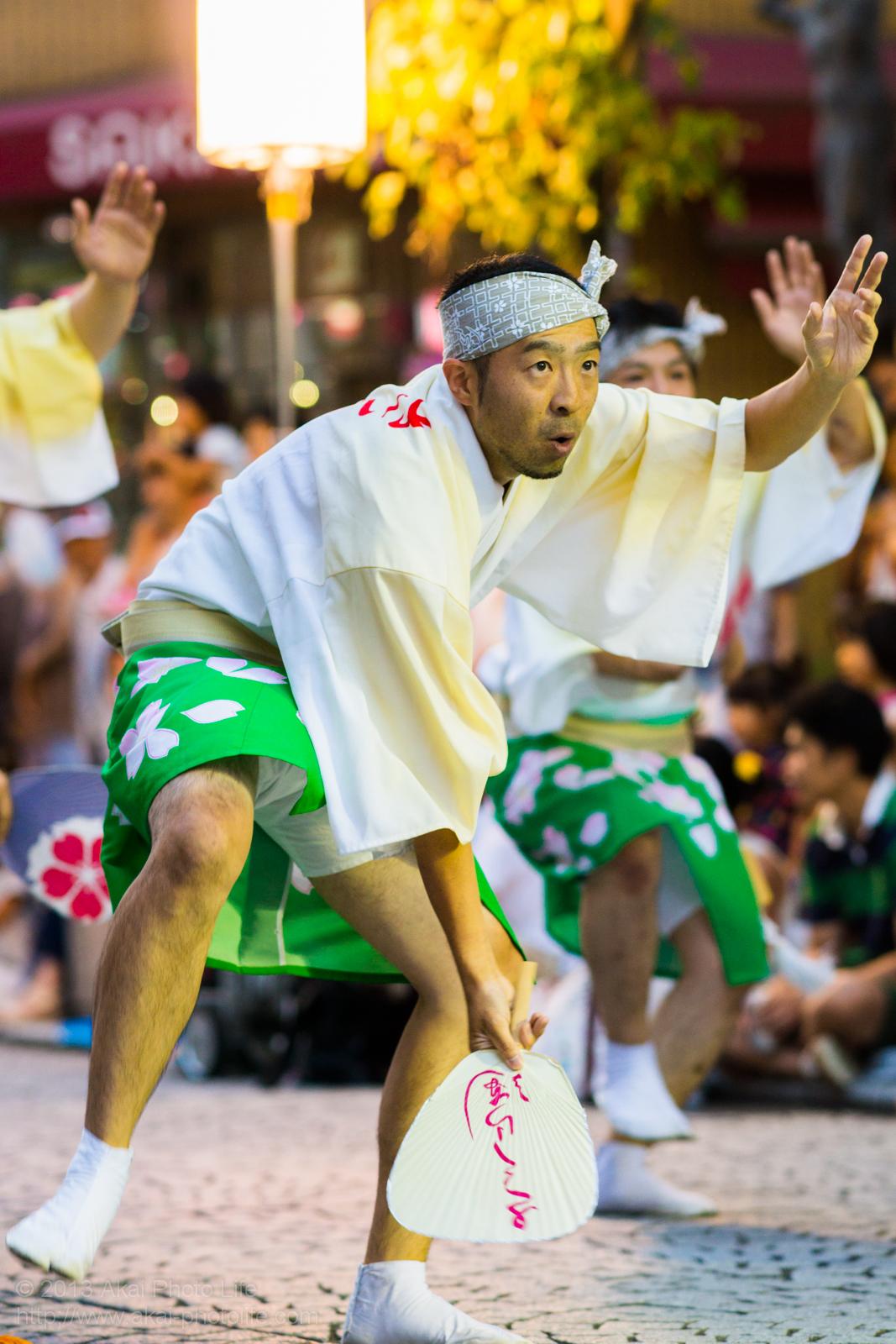 三鷹阿波踊り、小金井さくら連の男踊り