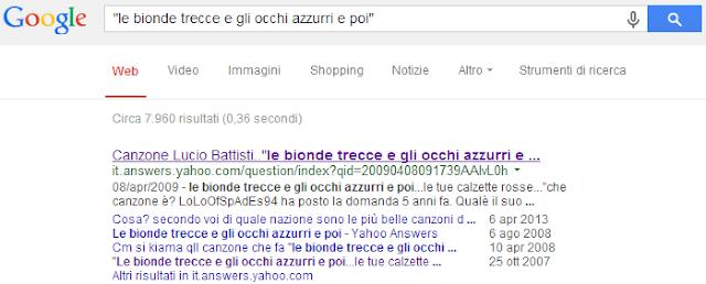 cerca canzone su google
