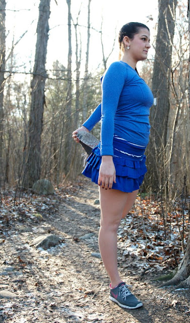 lululemon back on track running skirt pigment blue