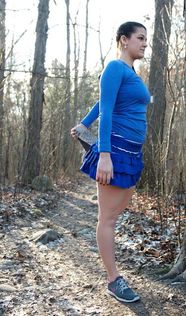 lululemon back on track running skirt pigment blue