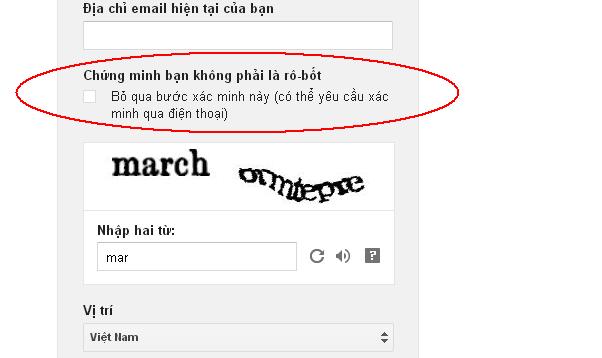 xác minh tài khoản gmail.com qua điện thoại