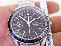 OMEGA SPEEDMASTER CHRONOGRAPH BLACK DIAL - POINTER DATE - 24 HOURS INDICATOR - DAY AND MONTH - AUTO