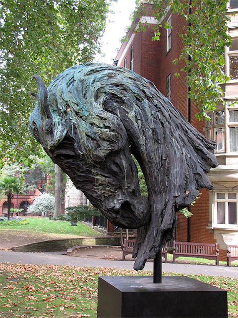 Fire by Nic Fiddian-Green, Mount Street Gardens, South Audley Street, London