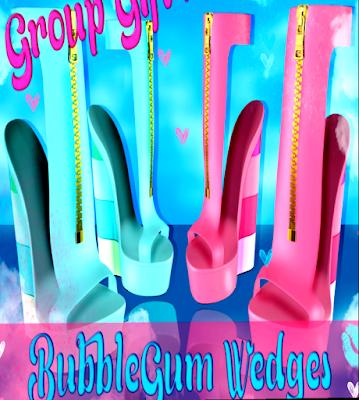 Bubble Gum Wedges