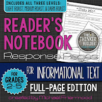 https://www.teacherspayteachers.com/Product/Gr-2-5-Readers-Notebook-Response-Pages-for-Informational-Text-FULL-PAGE-SET-1909083