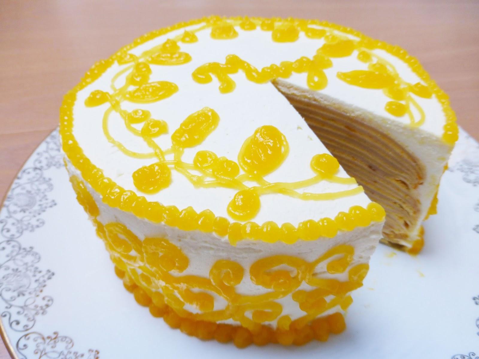 Mango Mille Crepe Cake   Recipe