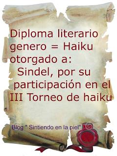 DIPLOMA III TORNEO DE HAIKU