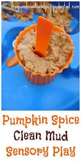 Pumpkin Spice Clean Mud- Fall Sensory Table