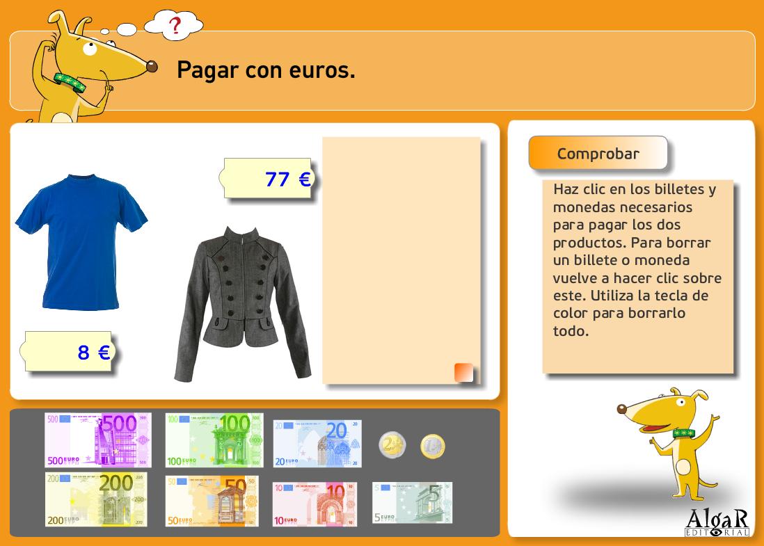 http://www.primerodecarlos.com/TERCERO_PRIMARIA/archivos/actividades_capicua_tercero/2/pagar_con_euros.swf