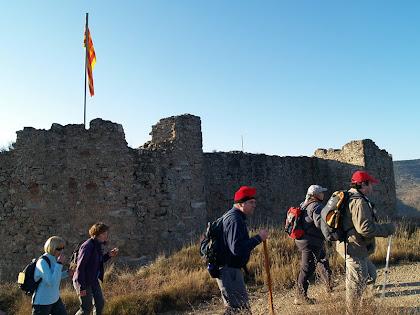 La pared nord del Fortí del Serrat del Maurici