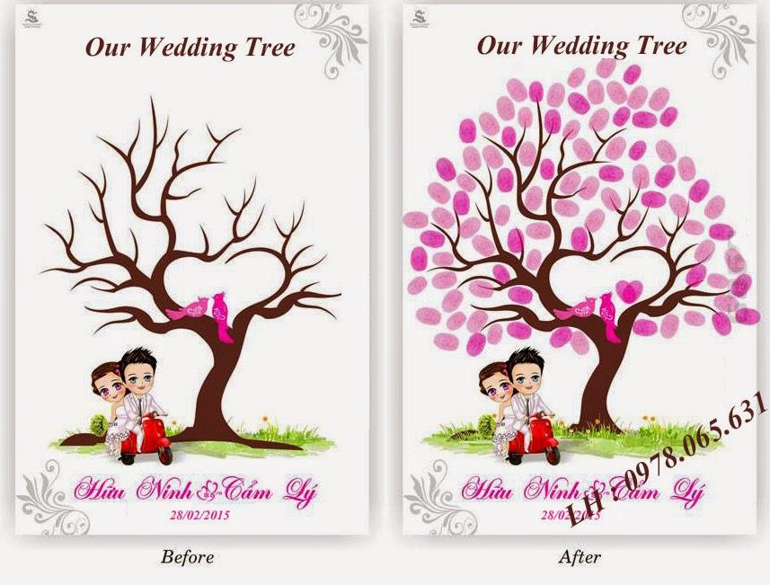 tranh kí tên đám cưới