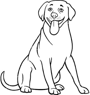 Black and white cartoon dog for Black and white coloring pages of dogs