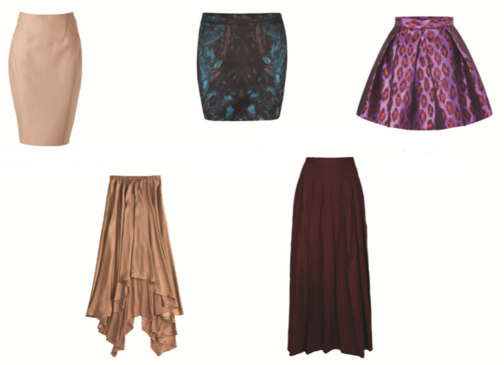 faldas para cuerpo reloj de arena