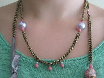 Collar romántico DIY/ romantic neclace / collier romantique