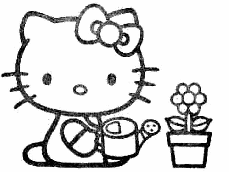imagens para colorir hello kitty - Desenhos da Hello Kitty para colorir