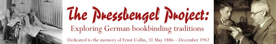 The Pressbengel Project: Exploring German bookbinding traditions and more...