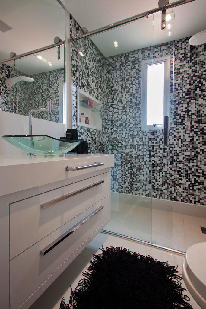decoracao banheiro pequeno preto e branco – Doitricom -> Banheiro Pequeno Casal
