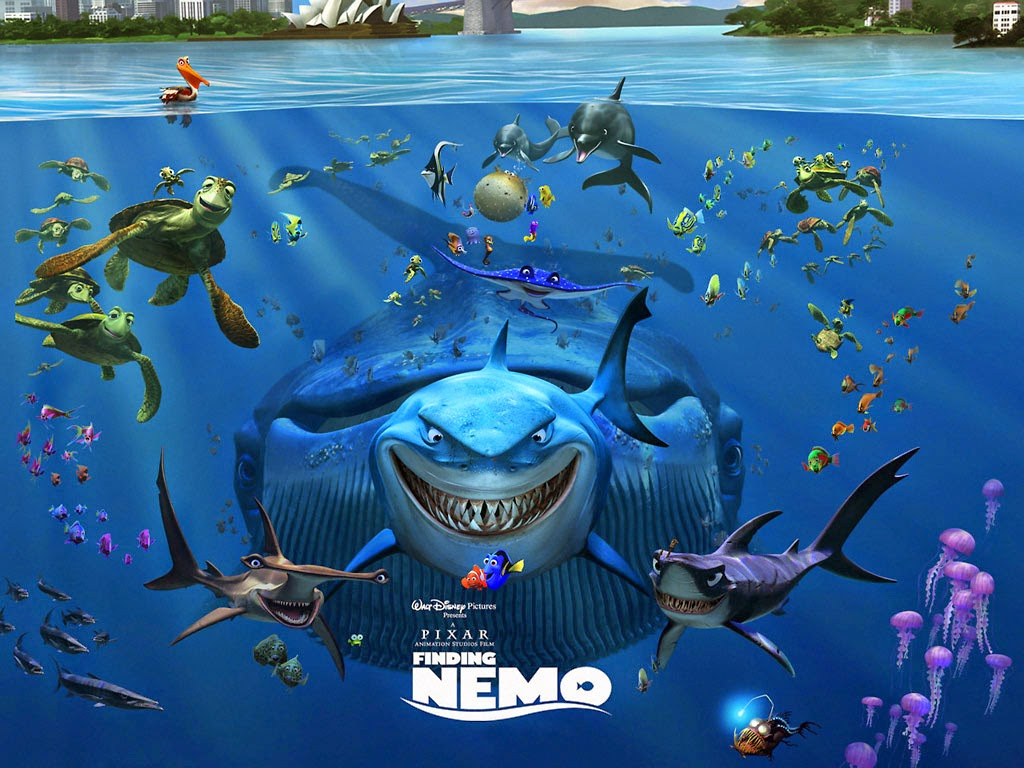 gallerycartoon.blogspot.com.Finding Nemo 3D Cartoon Wallpapers HD3