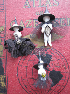 Vintage Witch Pendants