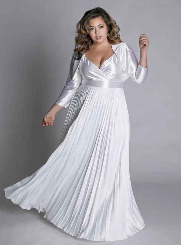 lange kjoler for store damer