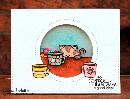 Coffee Card by Larissa Heskett | Newton Loves Coffee Stamp set by Newton's Nook Designs #newtonsnook #coffee