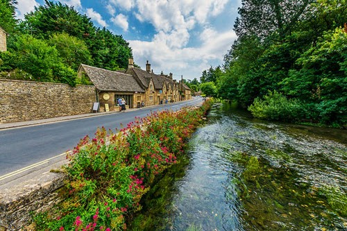 The most pictures of Bibury village, Cotswold in England