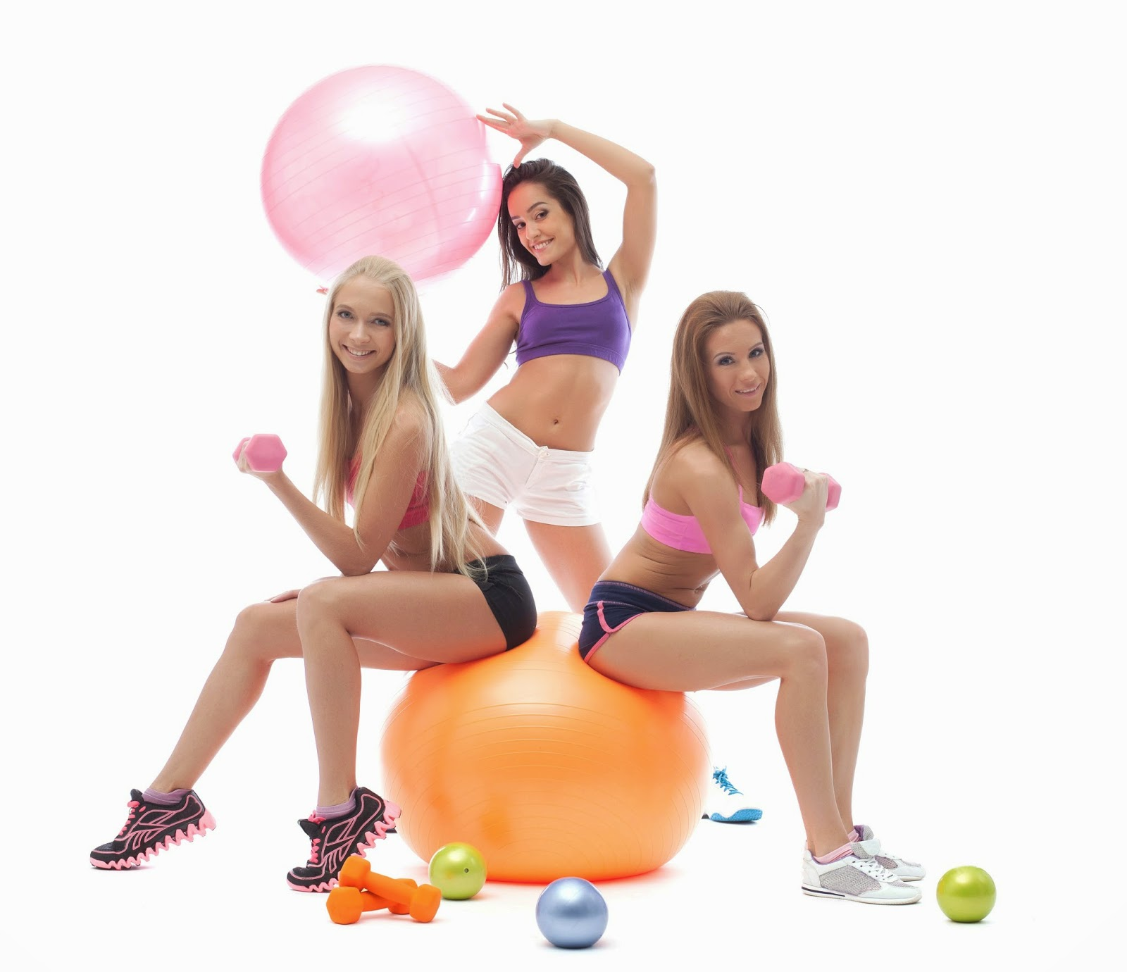 3 gym girls with baloons