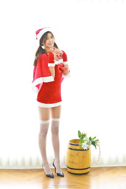 4 Ban Ji Hee - merry christmas - very cute asian girl-girlcute4u.blogspot.com