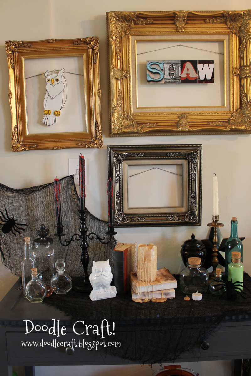 Doodle Craft...: Bloody Candlesticks and Halloween Entryway!
