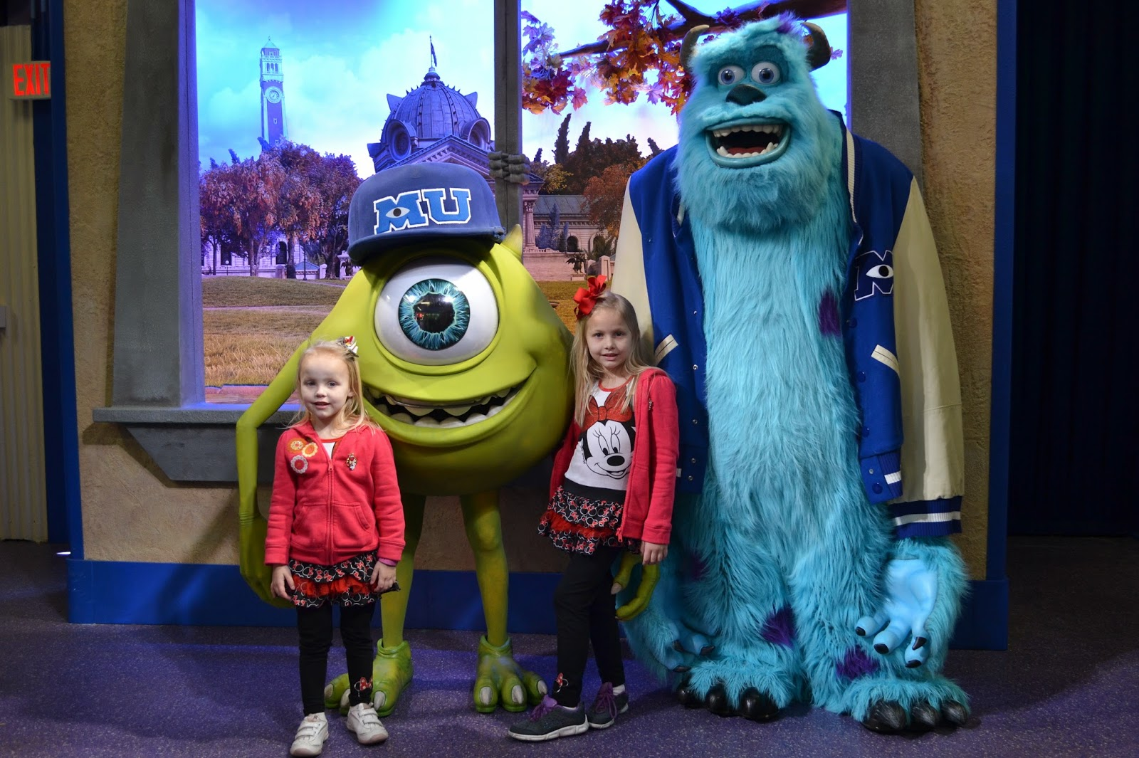 Hollywood studios disney day 5 life on the bay bush we were on a mission to get as many signatures as possible so we headed over to meet wreck it ralph and vanellope actually neither the monsters university kristyandbryce Choice Image