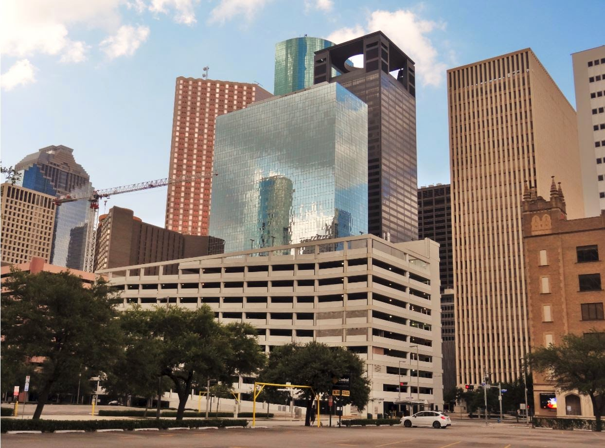 Bank Top Garage >> Downtown Houston Parking Garages | .................. Houston in Pics