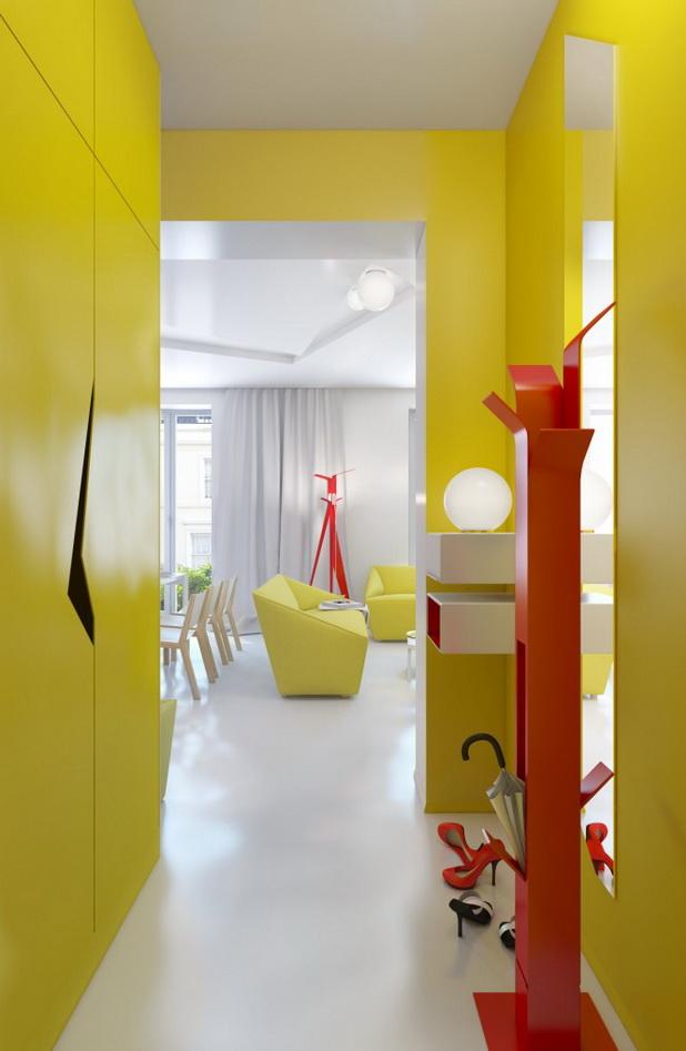 deco chambre interieur rouge jaune blanc conception int rieure de petit appartement. Black Bedroom Furniture Sets. Home Design Ideas