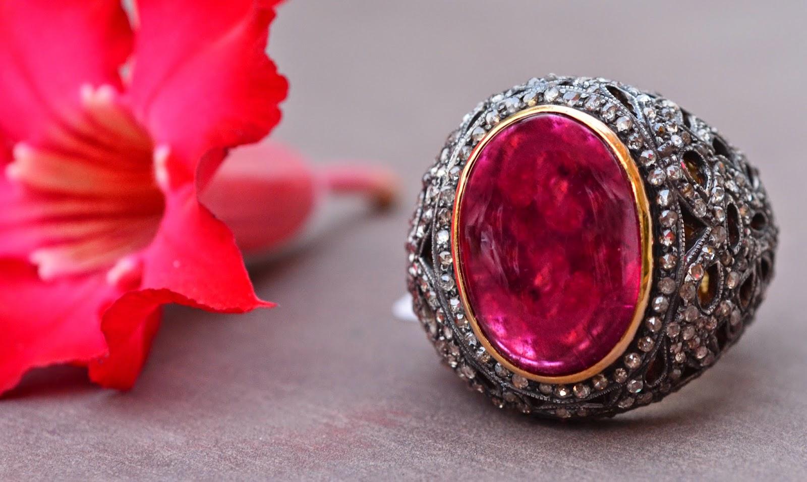 Designer Ruby Gemstone Ring