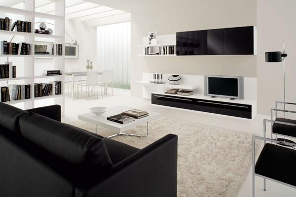 Lindas salas en blanco y negro ideas para decorar for Deco sala en blanco y negro
