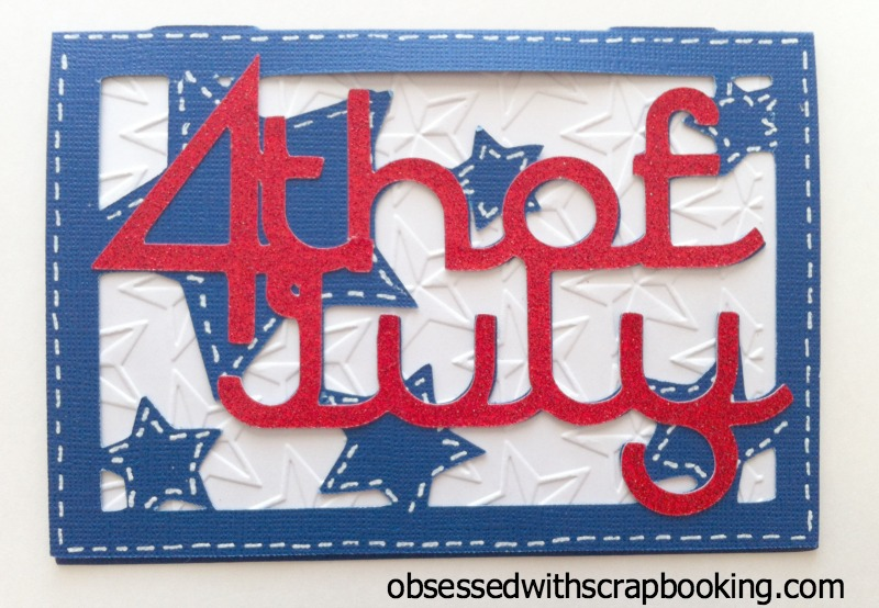4th of July Cricut Cards