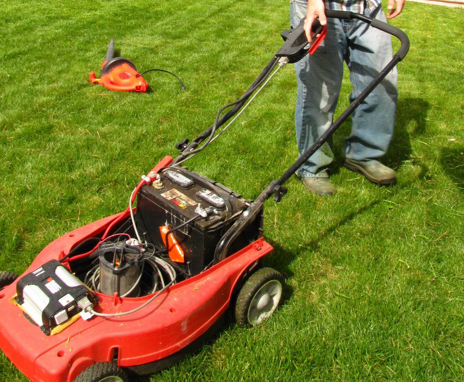 Johns Energy Saving Blog My Electric Lawn Mower Named Frankenstein