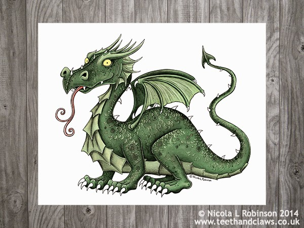 © Nicola L Robinson 2015 www.teethandclaws.co.uk All rights reserved Dragon Art Print