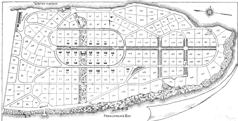 Nathan Barrets Original Plan For The Grindstone Development With Inn At Center Yacht Club Top And Steamboat Landing Bottom