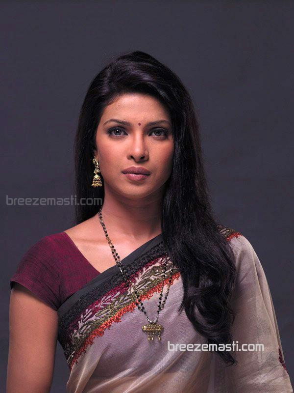 Priyanka Chopra in Saree wallpapers (62 Wallpapers) – HD ...