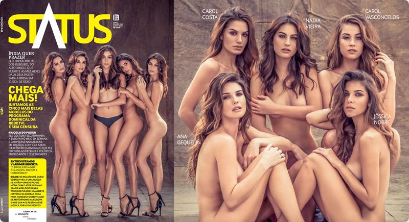 Revista Status –  5 modelos nuas da Rede TV!