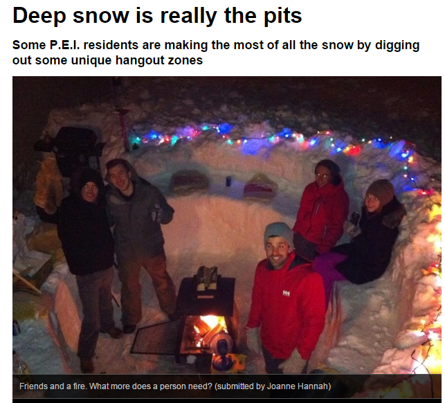 how to build a fire in deep snow