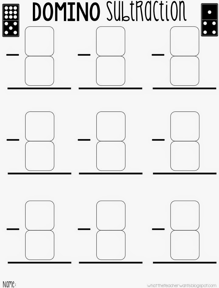 Domino Subtraction Worksheets For Kindergarten - subtraction worksheets enchanted learning15 ...