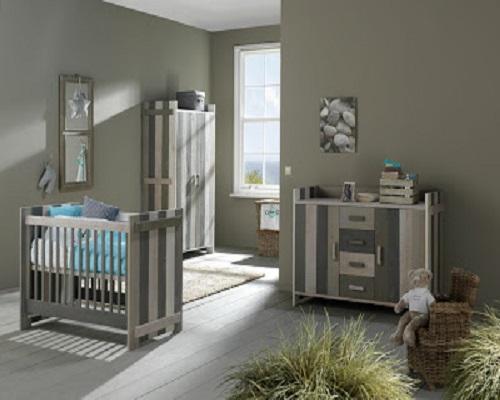 Couleur Peinture Orange : chambre bébé gris et blanc  Bébé et décoration  Chambre