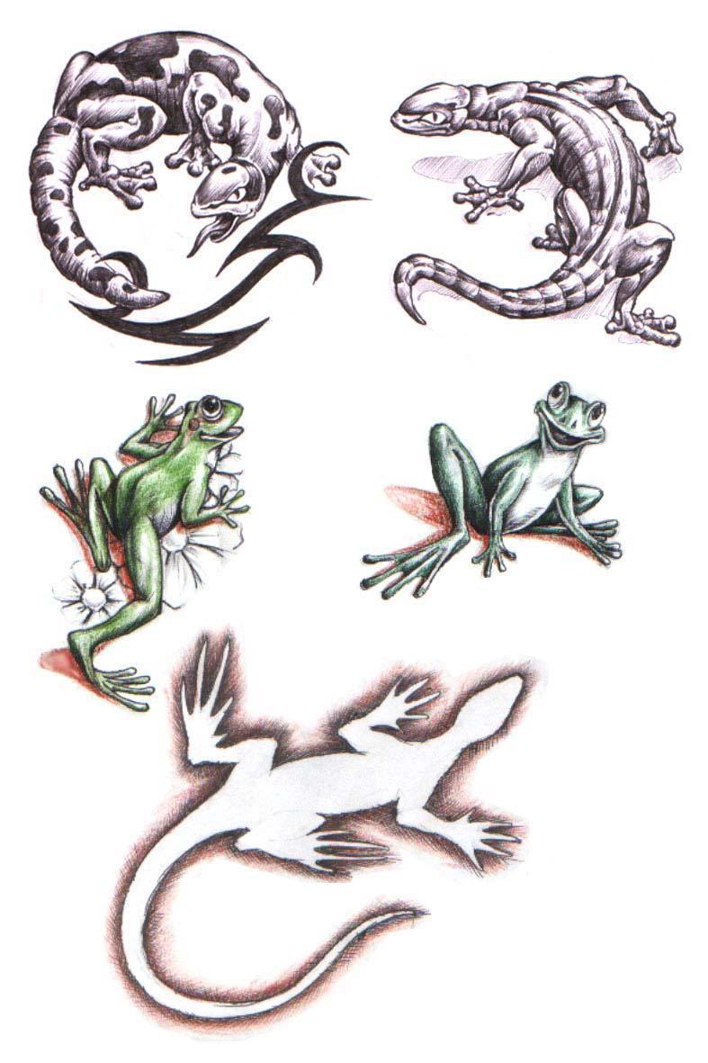 tattoos  lizard tattoo stencils