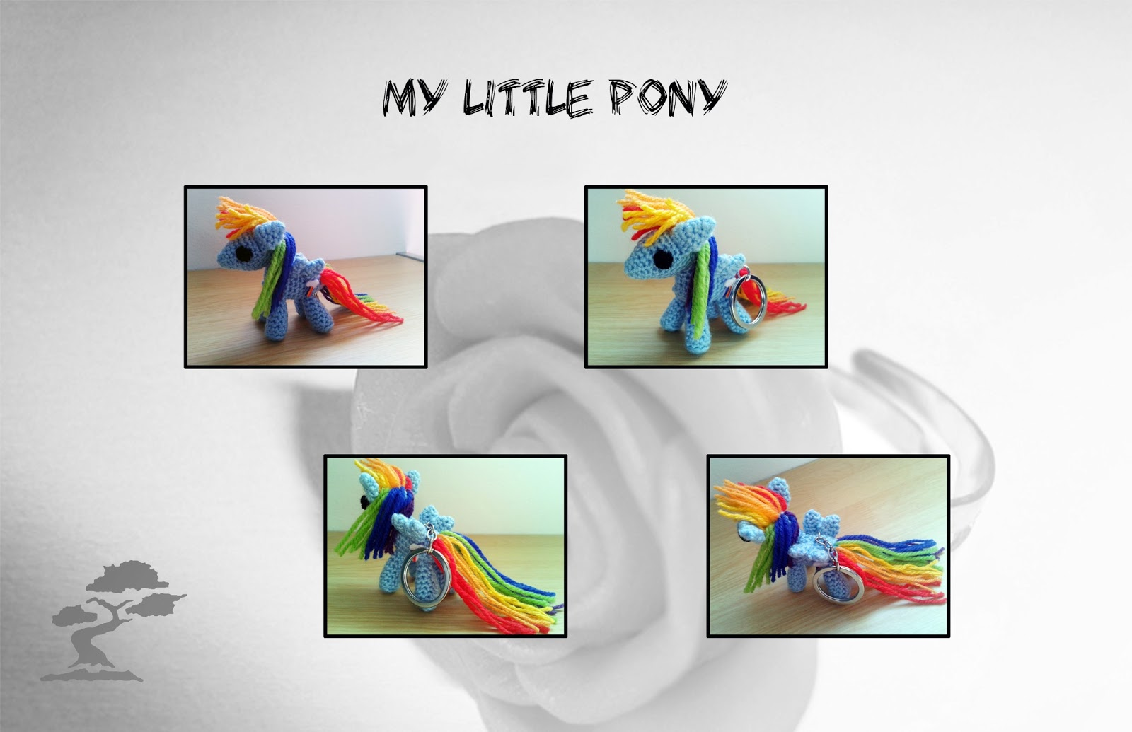 Semillas de bonsai: Llavero my little pony