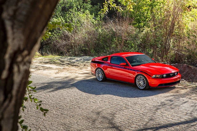 race red mustang