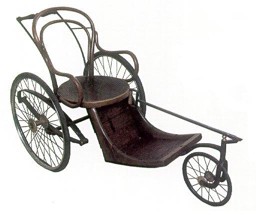 silla de ruedas antigua